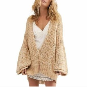 Free People Home Town Cardigan Woods Combo